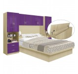 Studio Pier Wall Platform Bed w Matte Headboard