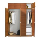 Alta Wardrobe Closet Package - 3 Drawer Wardrobes - Tall