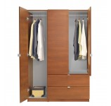 Alta Wardrobe Armoire Package - 3 Door, 2 Drawer Package - Left