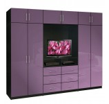 Aventa TV Wardrobe Wall Unit X-Tall - Bedroom TV Furniture Plus Storage