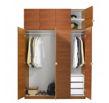 Alta Wardrobe Closet Package - 3 Drawer Wardrobe Package - Taller