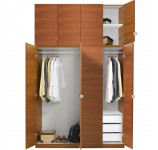 Alta Wardrobe Closet Package - 3 Drawer Wardrobe Extra Tall