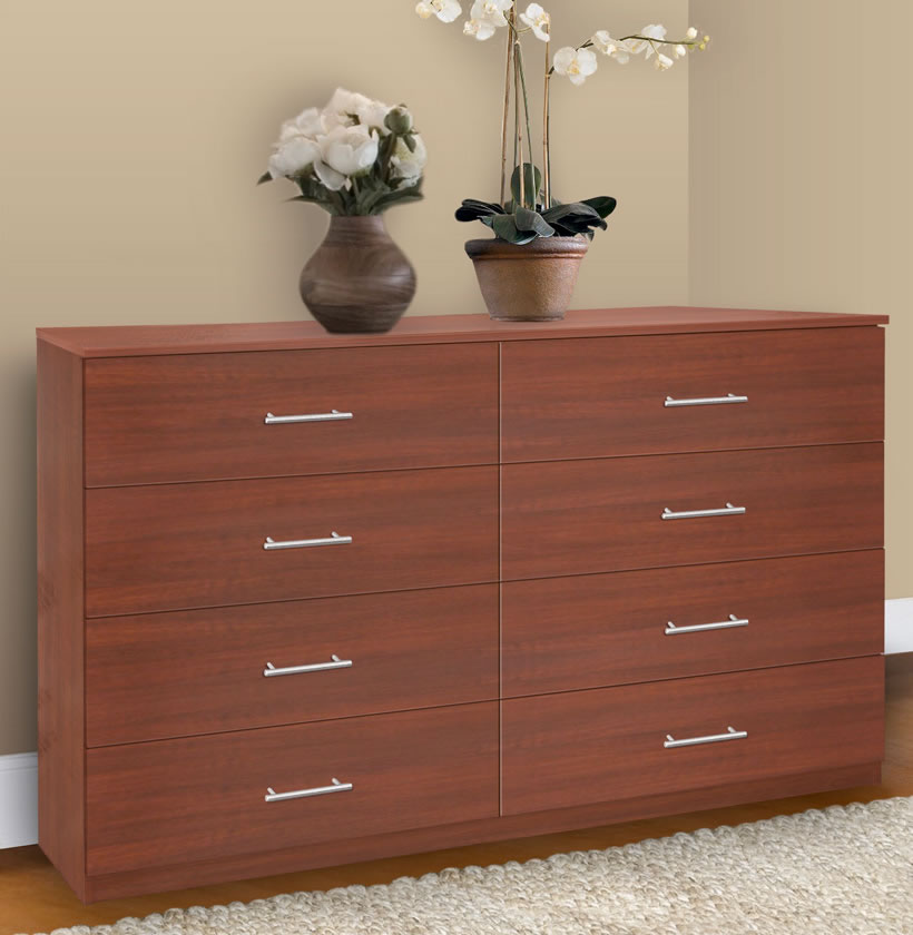 8 Drawer Double Dresser Chest Of Drawers Contempo Space