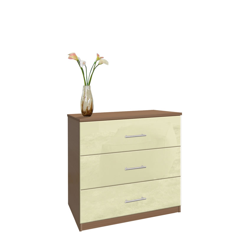 Modern 3 Drawer Dresser Small Chest Of Drawers
