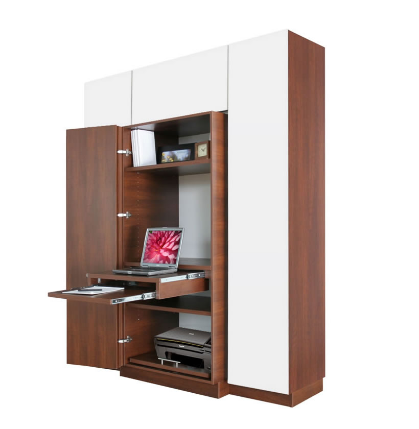 haley computer armoire plus home office storage contempo space. Black Bedroom Furniture Sets. Home Design Ideas