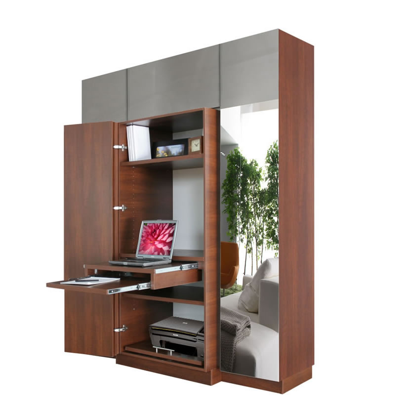 Haley computer armoire plus home office storage contempo space - Computer armoires for small spaces property ...