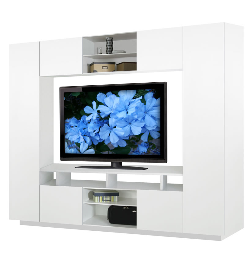 Keegan 8 Foot Entertainment Center W 360 Degree Storage