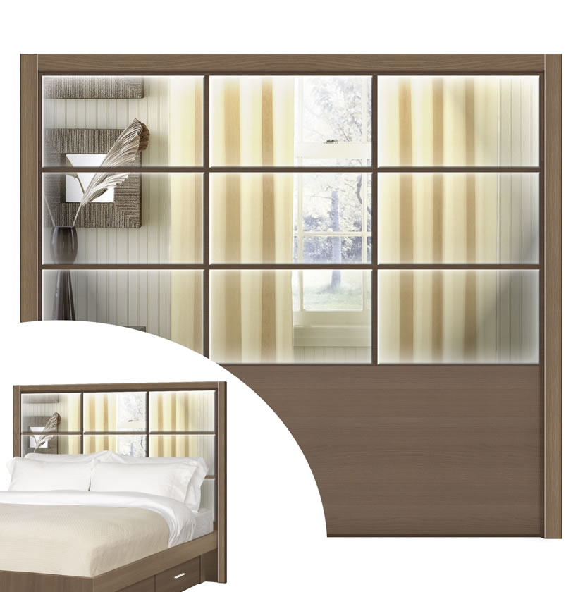 King size headboard cambridge headboard contempo space - King size bedroom set with mirror headboard ...