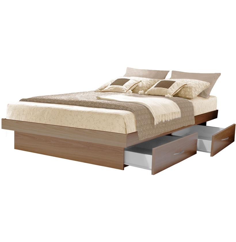 king platform bed with 4 drawers contempo space. Black Bedroom Furniture Sets. Home Design Ideas
