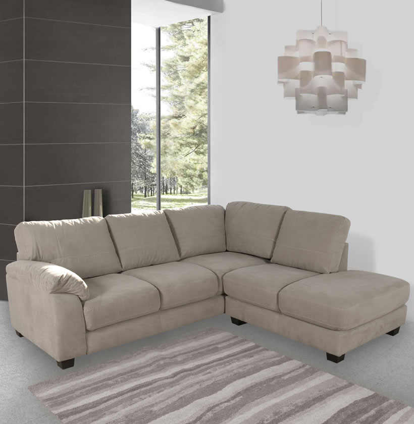 Bryce Sectional Sofa Microfiber L Shaped Sectional