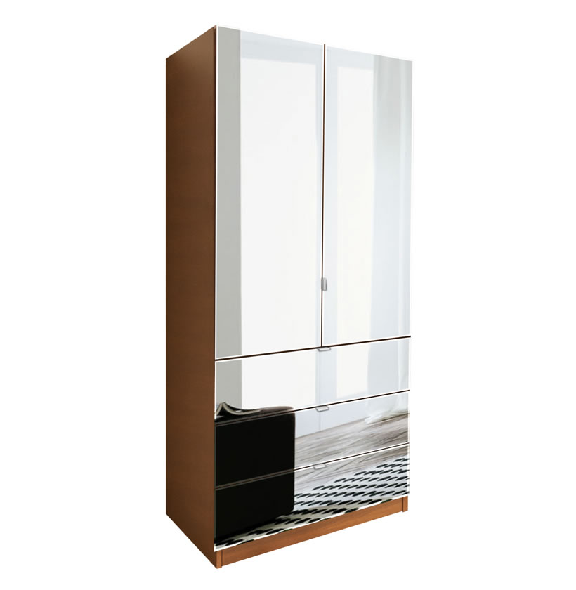 Alta Wardrobe Armoire 3 External Drawers Contempo Space
