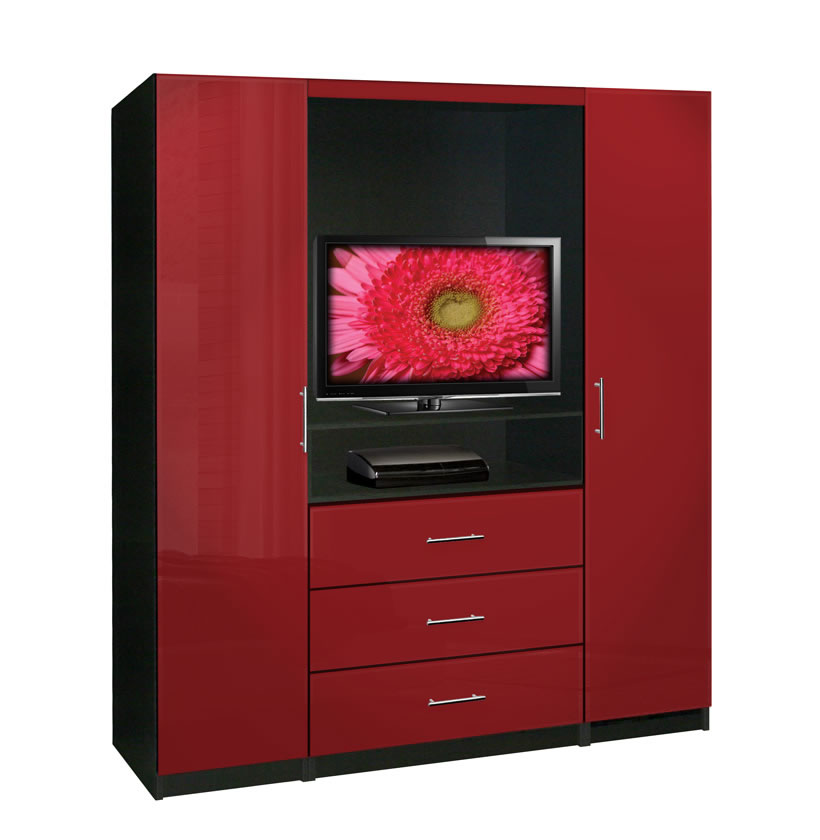 Aventa tv armoire contempo space for Entertainment armoire