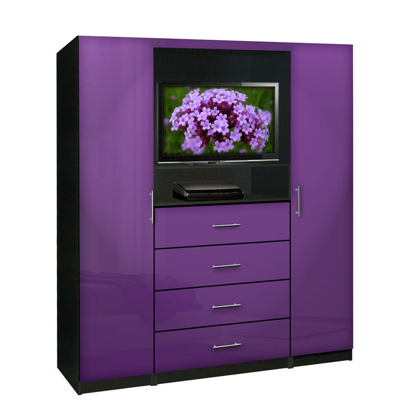 Aventa bedroom tv armoire contempo space for Armoire tv