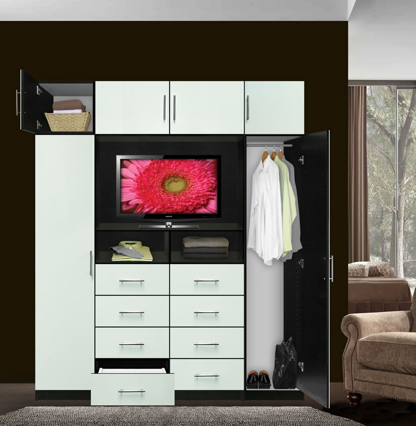Chest With TV Space And Cabinet