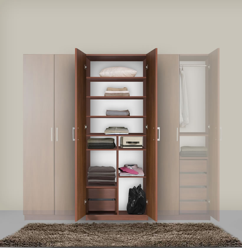 Bella armoire wardrobe ultimate bedroom storage contempo space for Bedroom armoire with tv storage