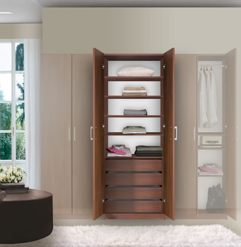 Bella Wardrobe Armoire - Modern Bedroom Storage | Contempo ...