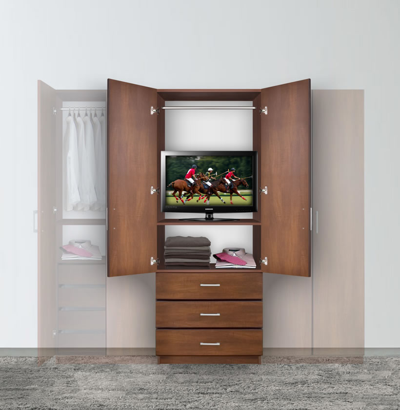 bella armoire hanging wardrobe storage contempo space. Black Bedroom Furniture Sets. Home Design Ideas