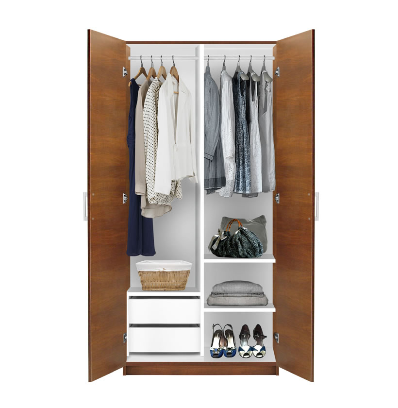 Alta 2 door wardrobe side by side contempo space for 4 door wardrobe interior designs