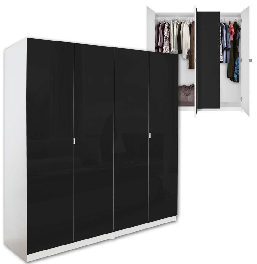 Alta 4 Door Wardrobe Closet Basic Package Free Standing Contempo Space