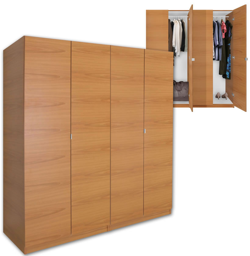Wardrobe closet freestanding wood